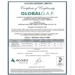 Trafalgar Fisheries  achieves Global Gap Certification